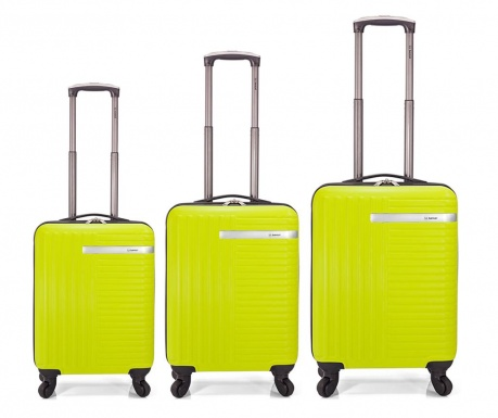 Set 3 kovčkov na kolesih Gerard Lime