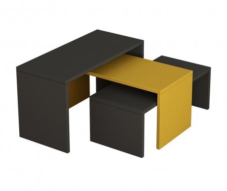 Kanta Anthracite and Mustard and Anthracite Dohányzóasztal együttes