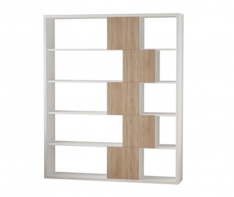 Polica za knjige Roscoetoo White and Oak