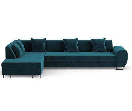 Calmato Turquoise Baloldali  kihúzható sarokkanapé