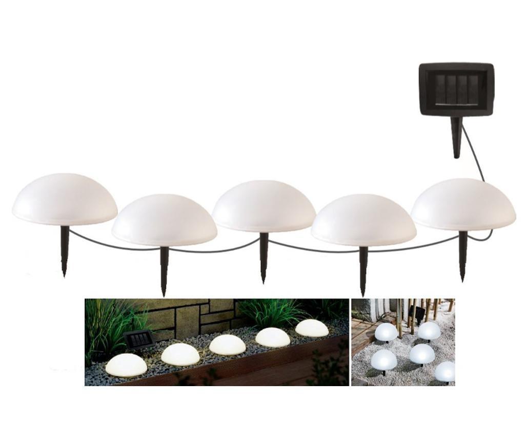 Set 5 solarnih svjetiljki Half Moon