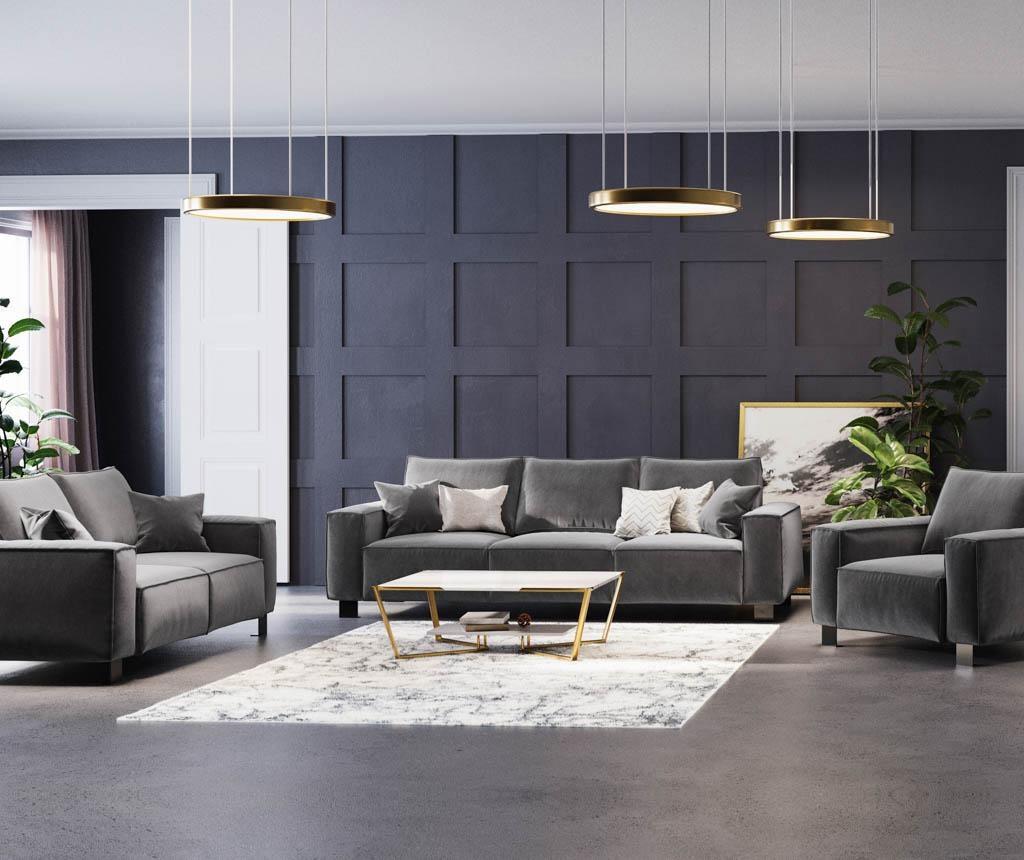 Dolce Dark Grey Háromszemélyes kanapé