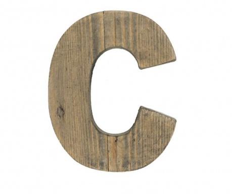 Decoratiune Letter C Dark Wood