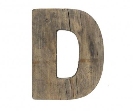 Decoratiune Letter D Dark Wood