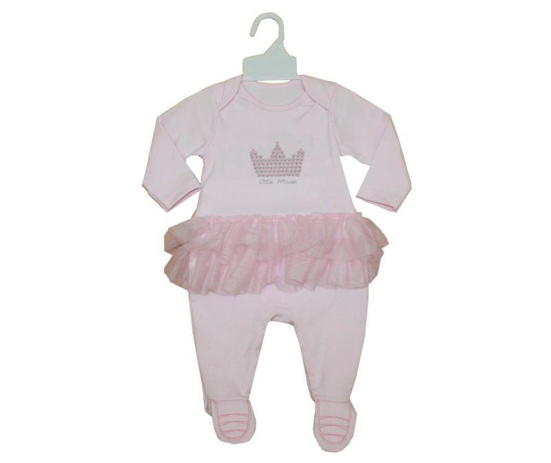Otroški pajac z nogavicami in dolgimi rokavi Little Princess 9-12 mesecev