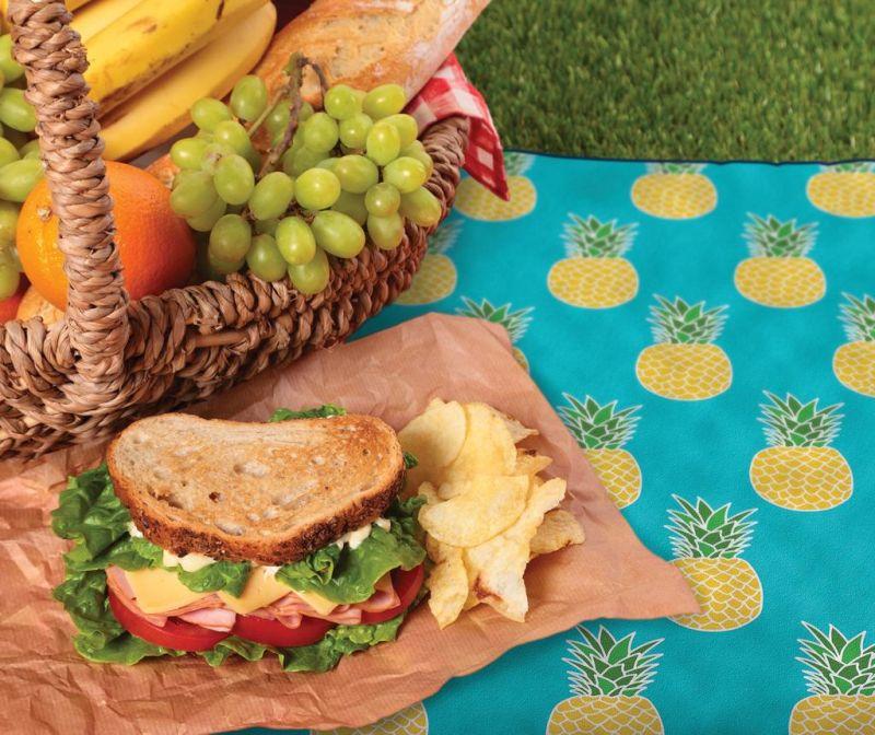 Odeja za piknik Pineapples 127x152 cm