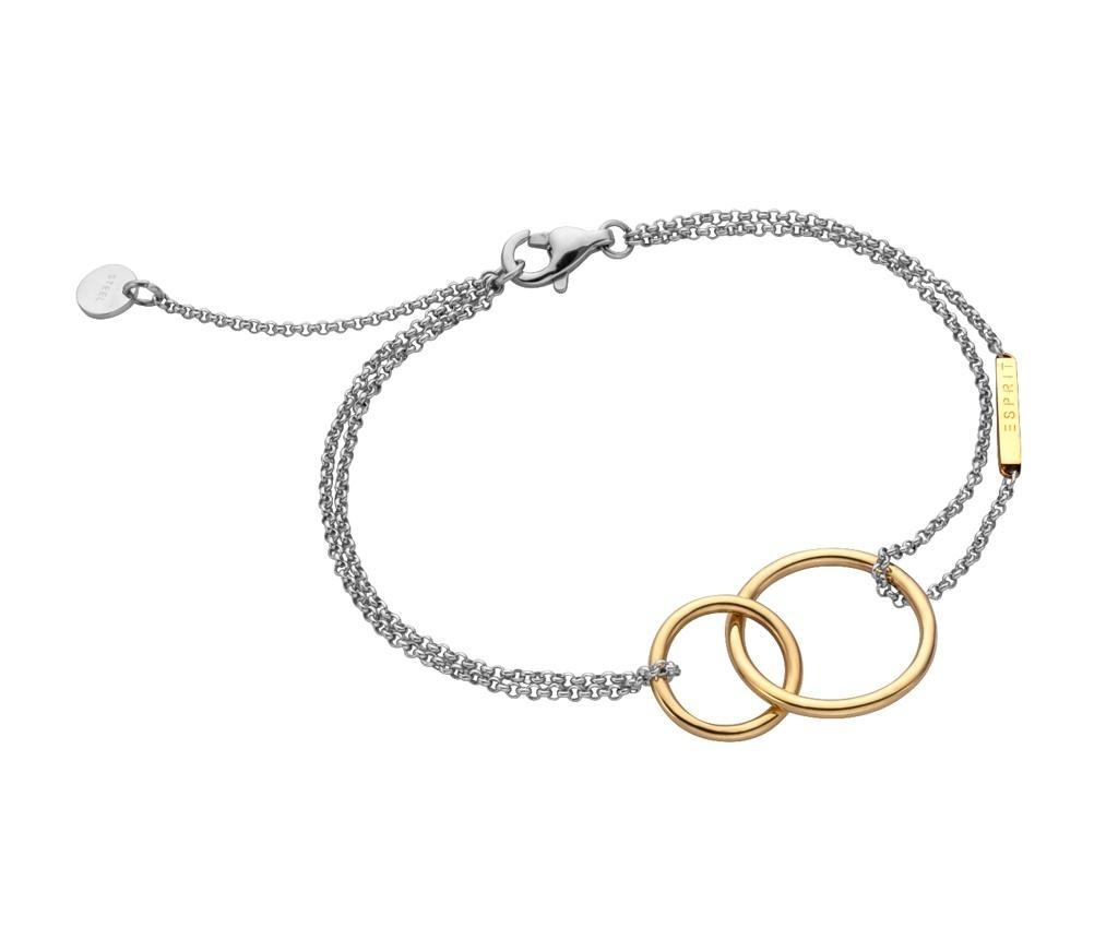 Náramek Esprit Stylish Silver & Gold Tone