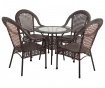 Set stol i 4 stolica za vanjski prostor Classic