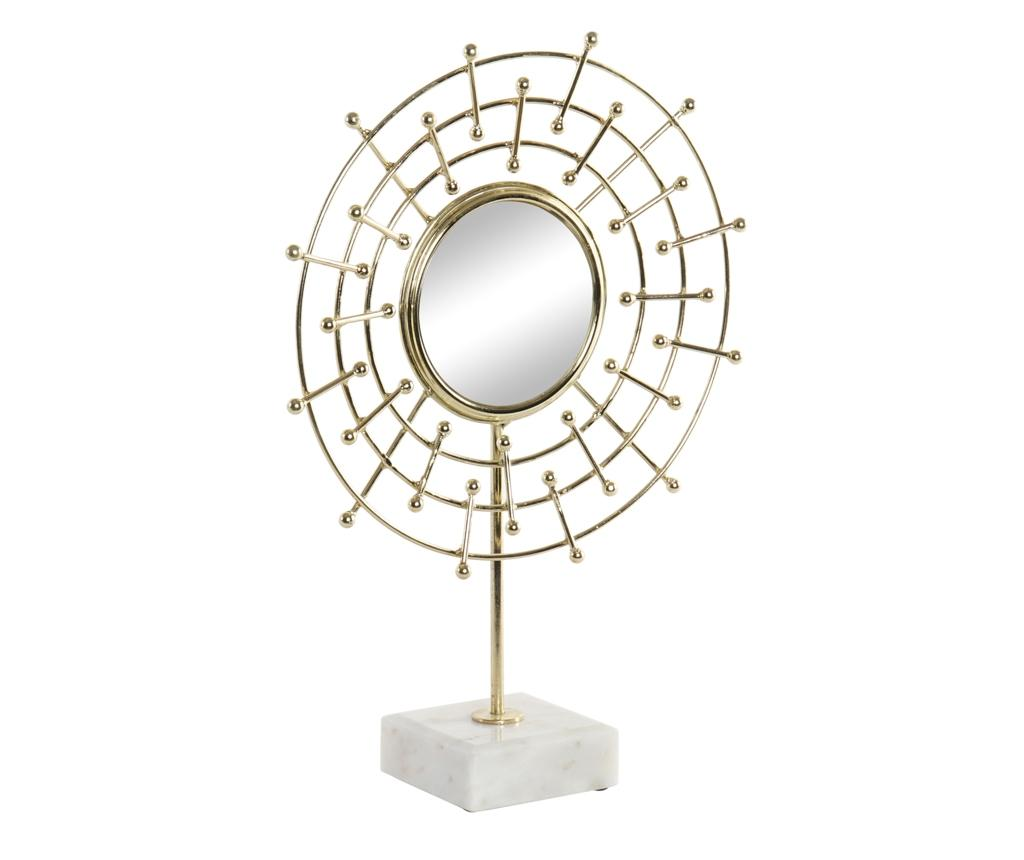 Decoratiune cu oglinda Fisheye - Item International, Galben & Auriu