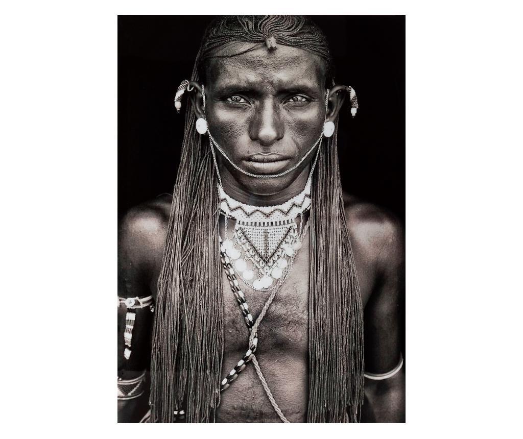 Tablou African Man 50x70 cm - Eurofirany, Multicolor