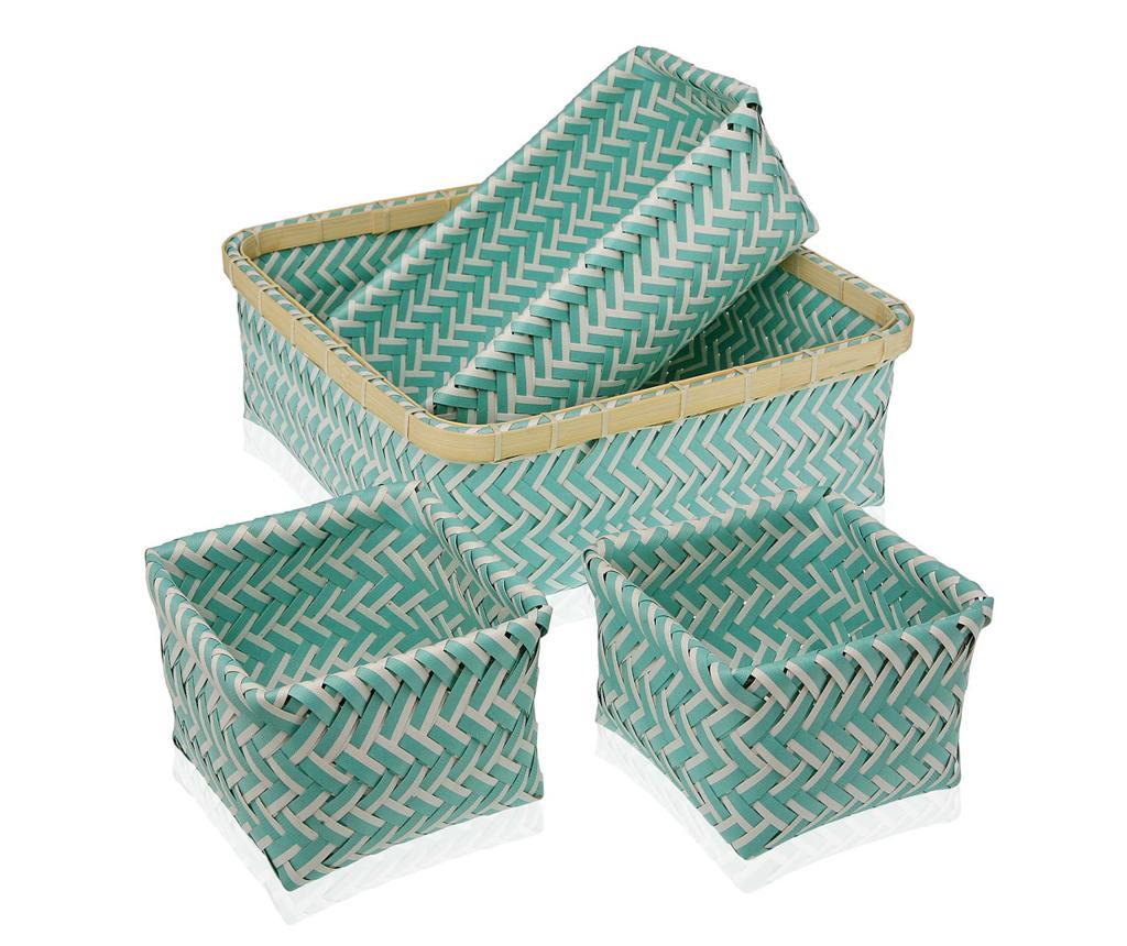 Set 4 cosuri Stripes Turquoise - Versa