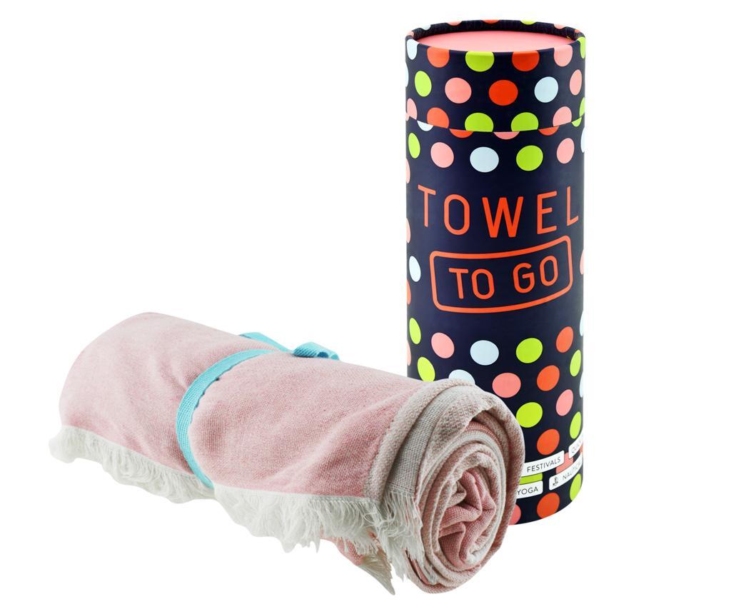 Prosop de plaja Star Pink 100x180 cm - Towel to GO, Roz