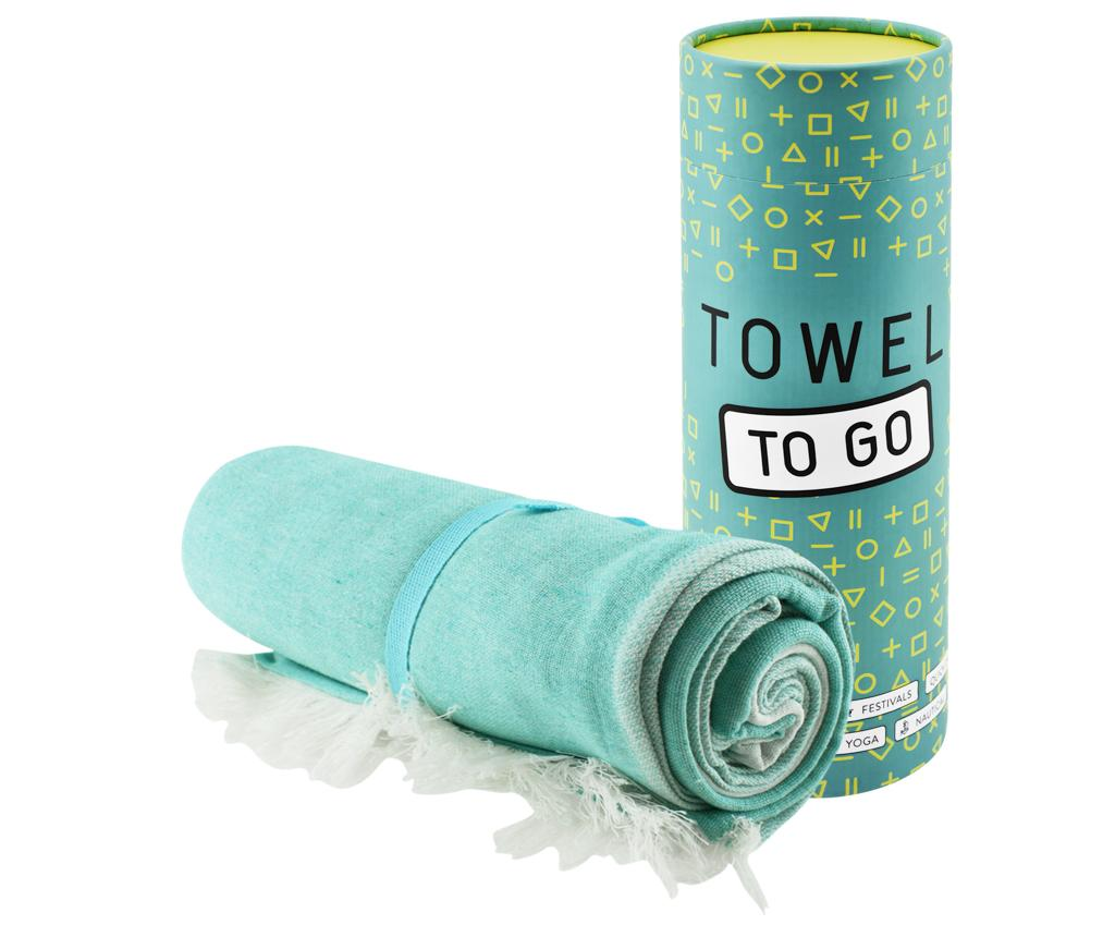 Prosop de plaja Star Blue 100x180 cm - Towel to GO, Albastru