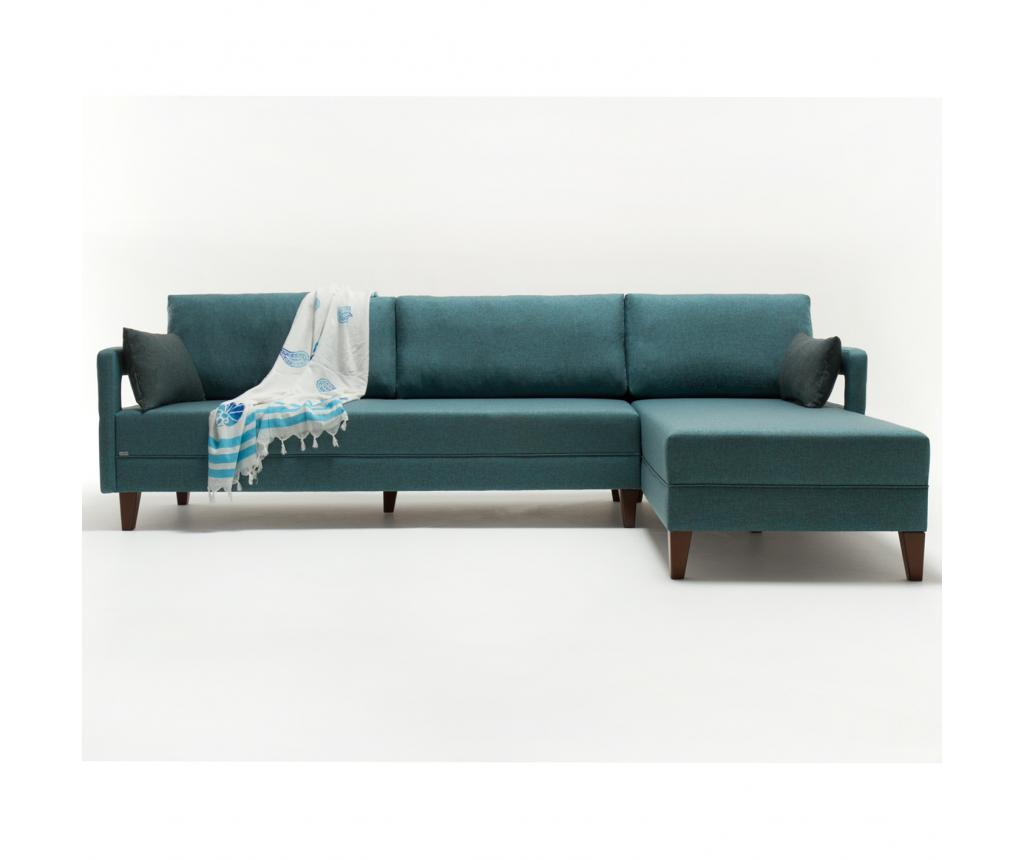 Balcab Home Coltar Dreapta Comfort Elite Turquoise