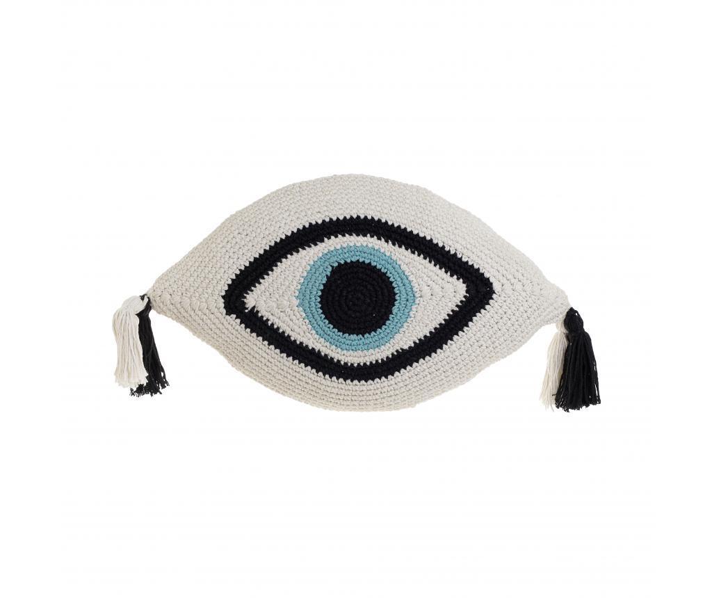 Perna decorativa Eye Ivory 30x50 cm - inart, Alb,Negru