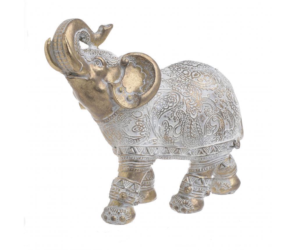 Decoratiune Elephant Aiva - inart, Alb,Galben & Auriu