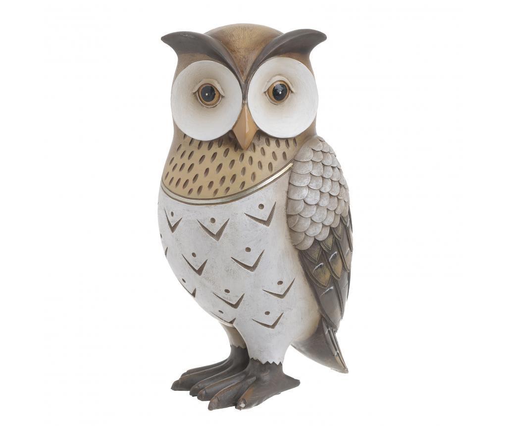 Decoratiune Owl - inart, Alb,Crem