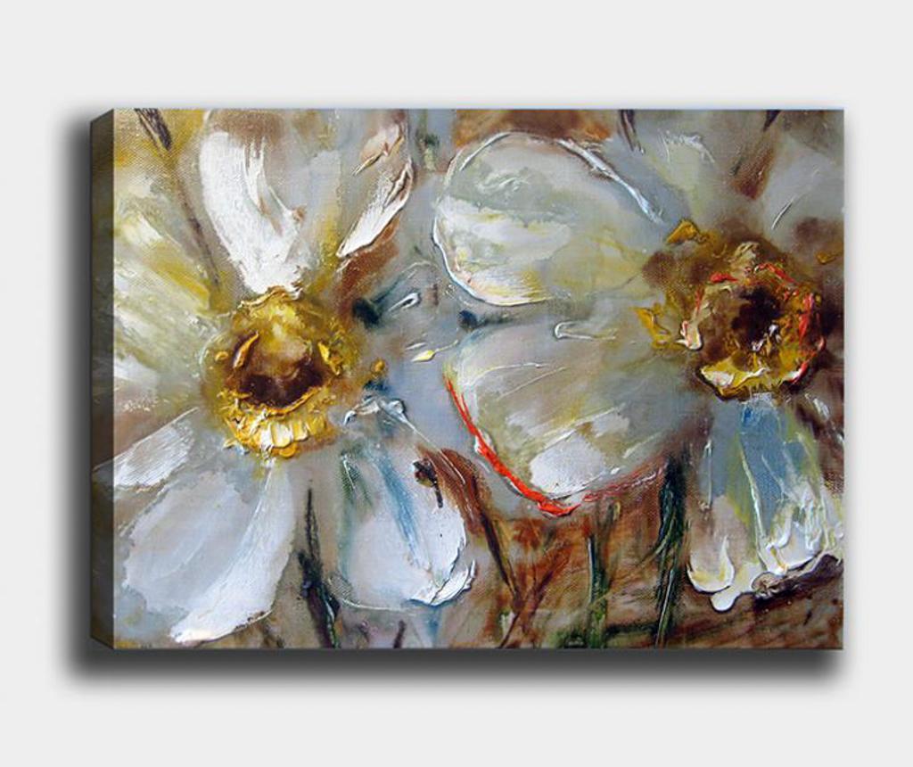Tablou Flowers 100x140 cm - Tablo Center, Multicolor
