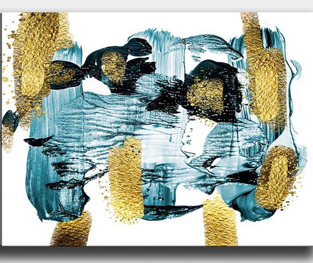 Tablou Golden Ocean 70x100 Cm - Tablo Center, Multicolor