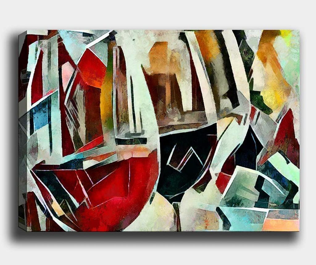 Tablou Wine Glass 100x140 cm - Tablo Center, Multicolor
