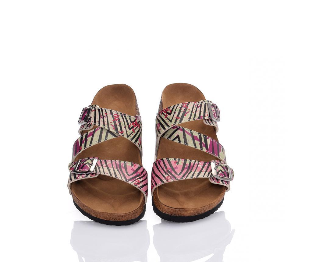 Papuci dama Zebra Splash 38 - CELLA, Multicolor