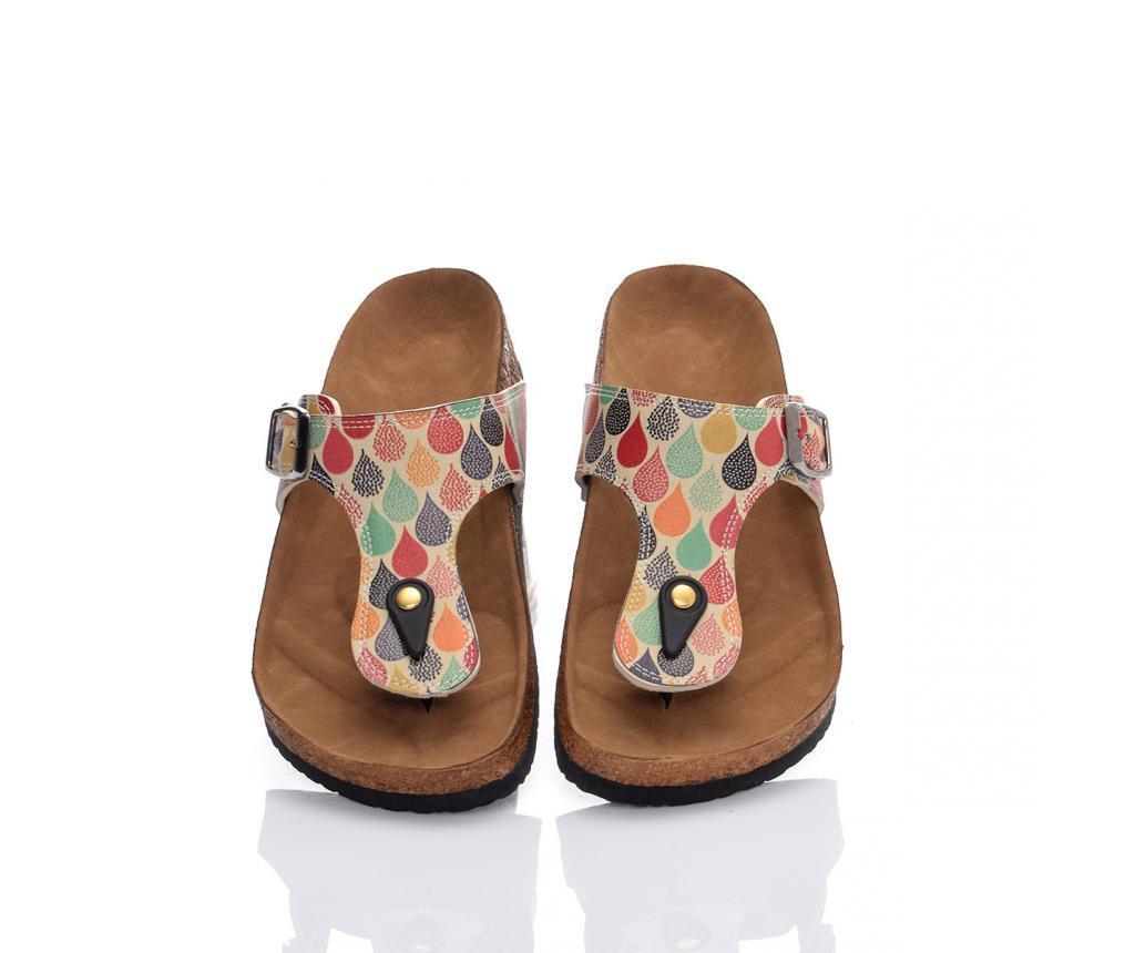 Papuci de plaja dama Drops 36 - CELLA, Multicolor