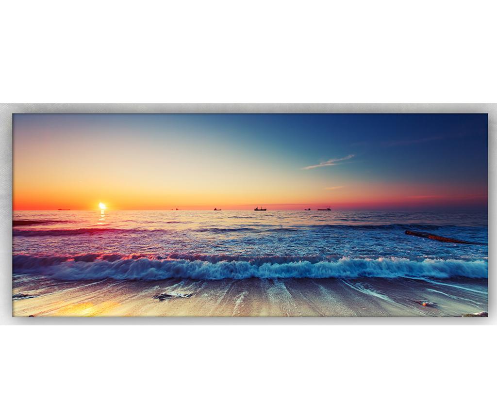 Tablou Sea And Sunset 60x140 cm - Tablo Center, Multicolor