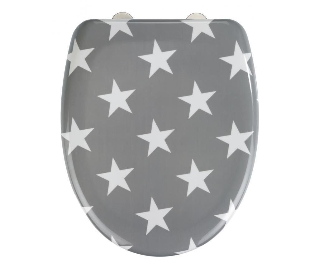 Capac pentru toaleta Stella Grey - Wenko, Gri & Argintiu