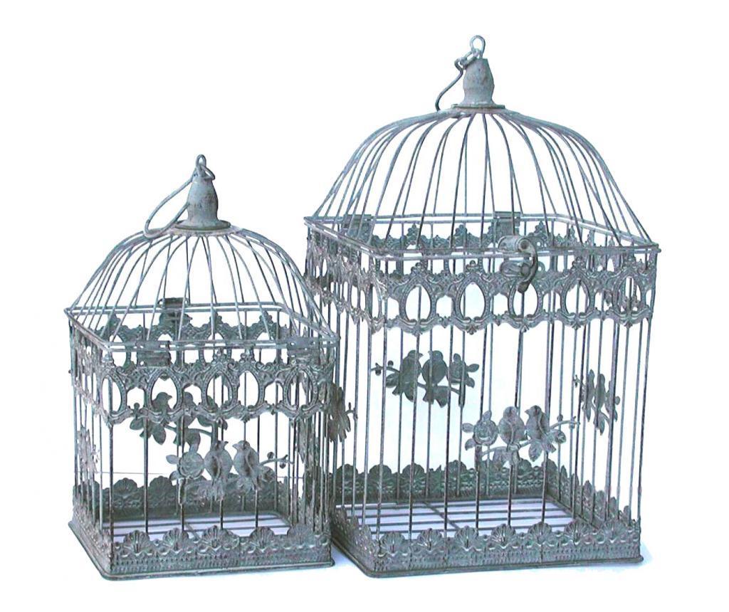 Set 2 colivii decorative - Bolzonella, Gri & Argintiu