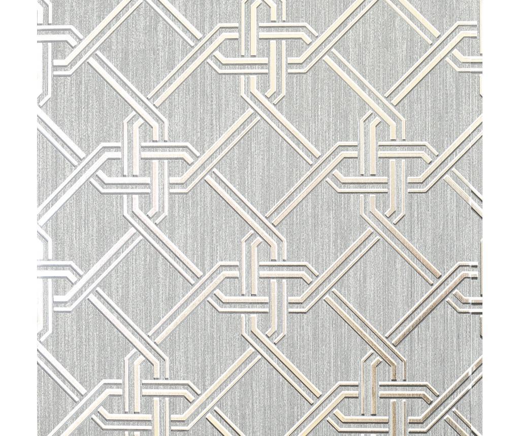 Tapet Gianni Foil Silver 53x1005 cm - Arthouse