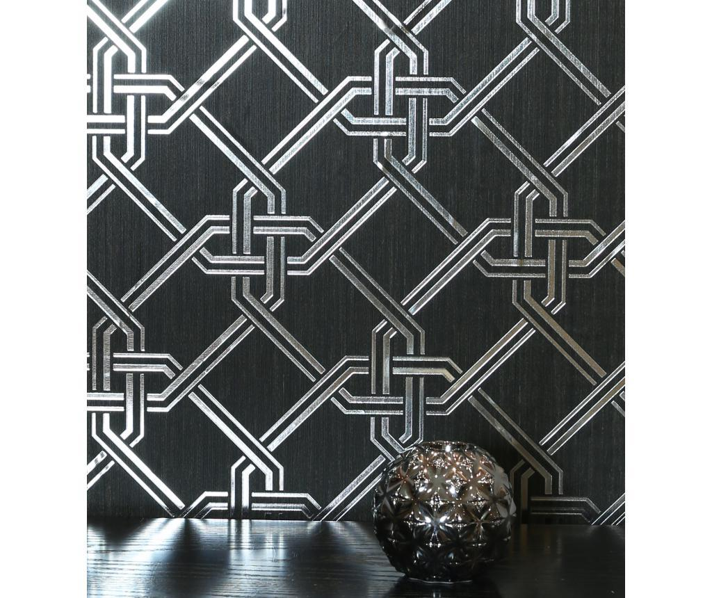 Tapet Gianni Foil Black and Silver 53x1005 cm - Arthouse