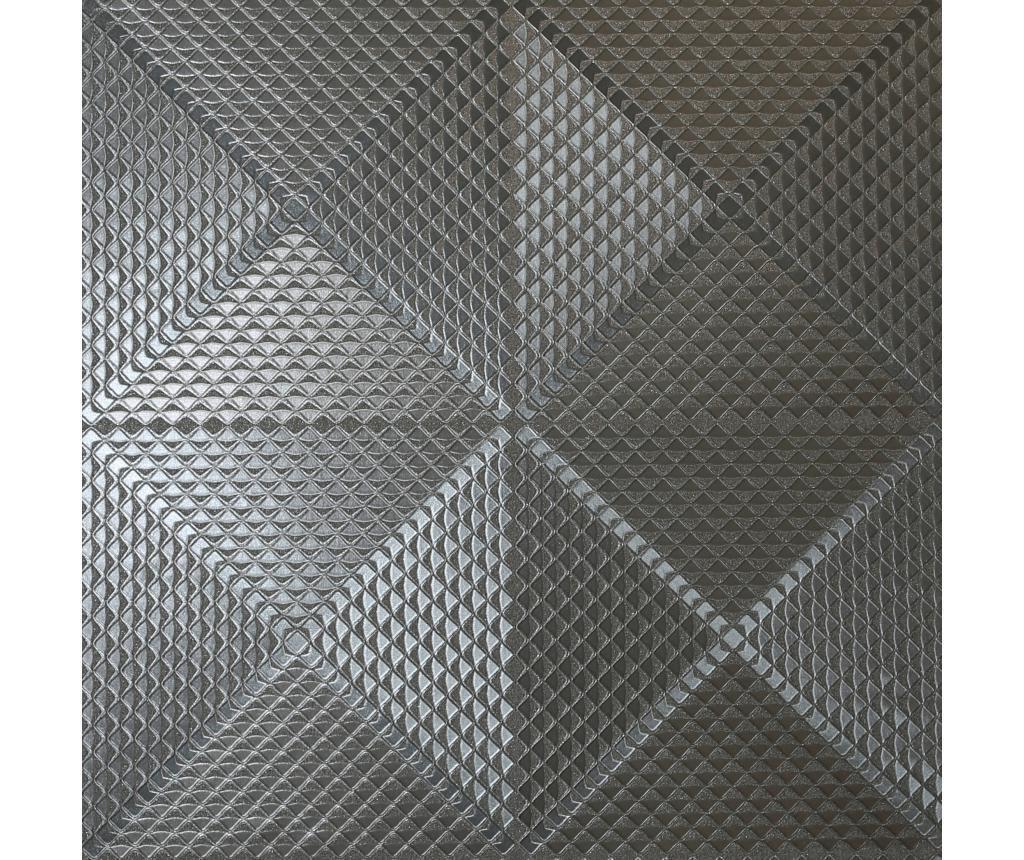 Tapet Geo Diamond Foil Gunmetal 53x1005 cm - Arthouse