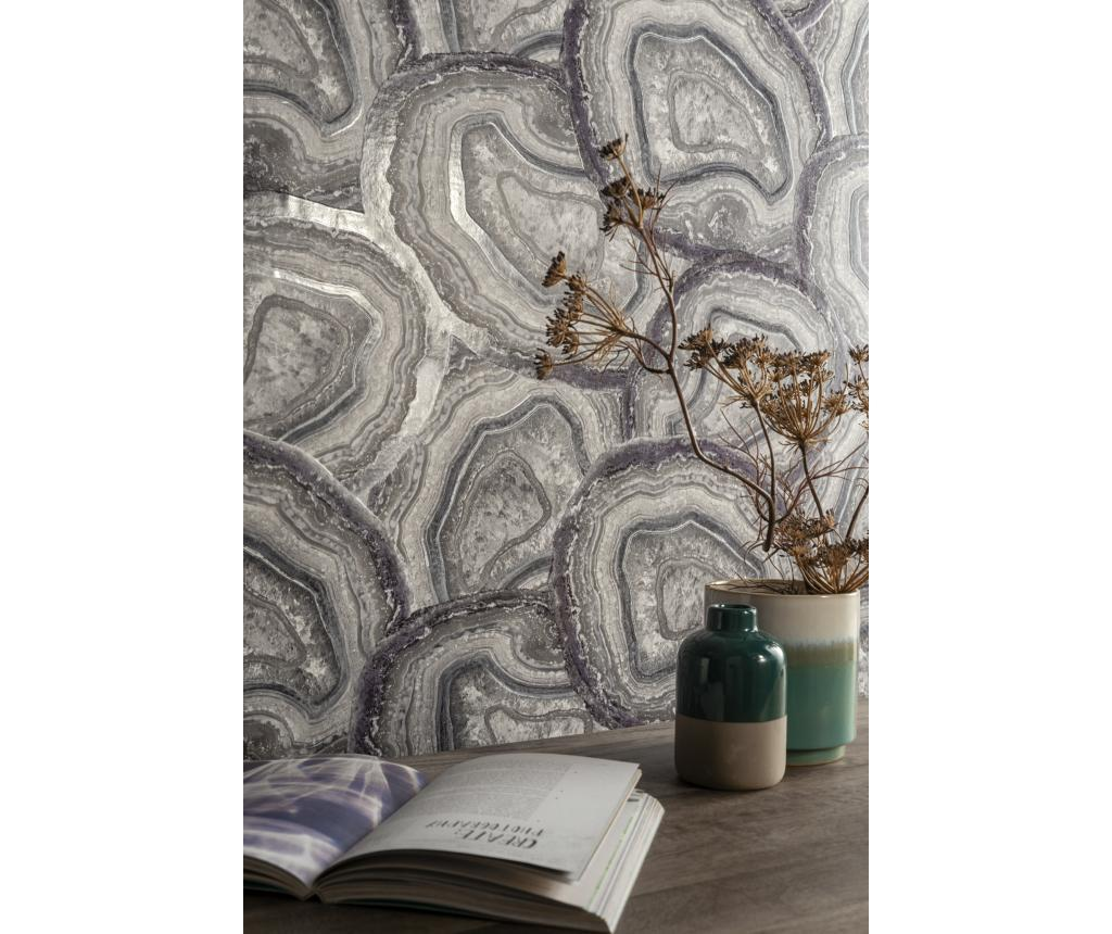 Tapet Agate Amethist & Grey 53x1005 cm - Arthouse