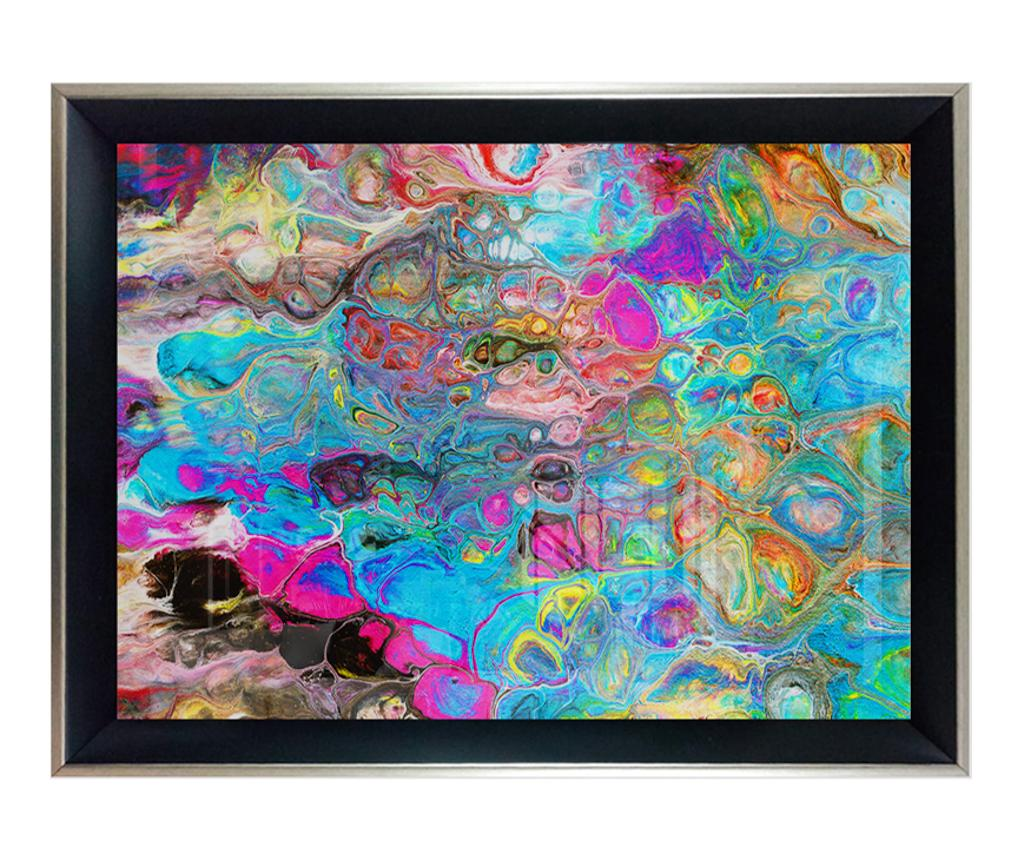 Tablou Colorful Marbling Art Multicolor