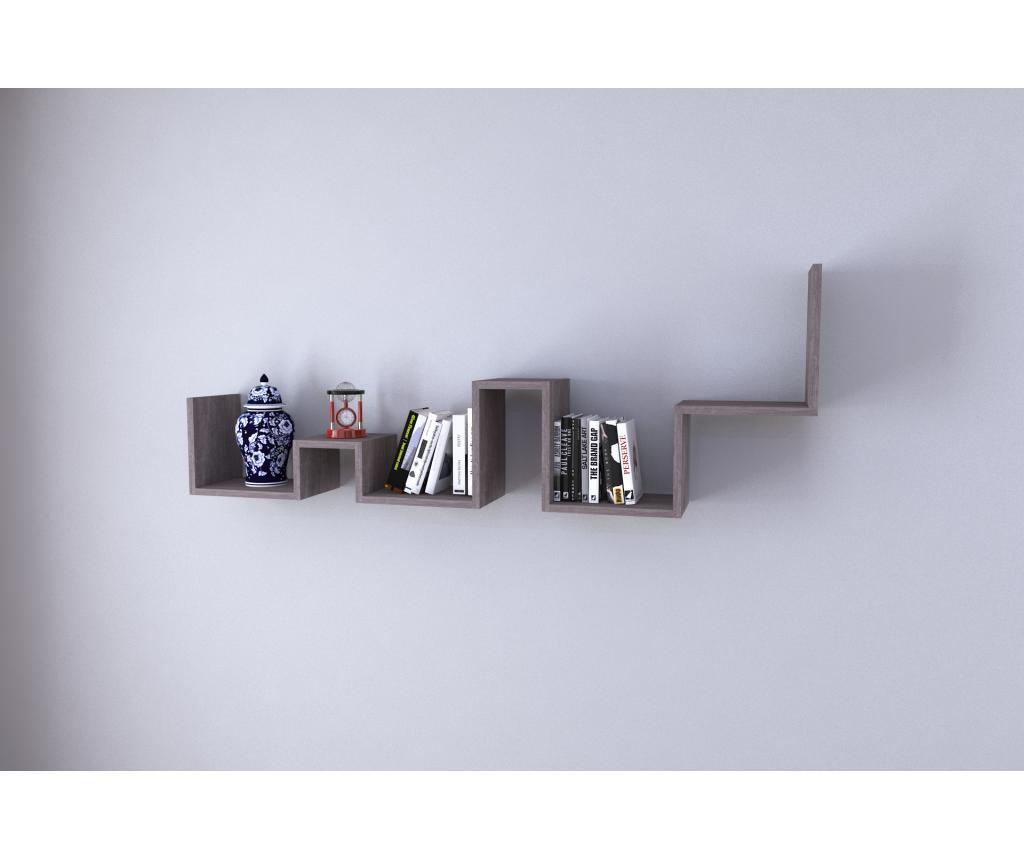 Raft de perete - Oyo Concept, Gri & Argintiu