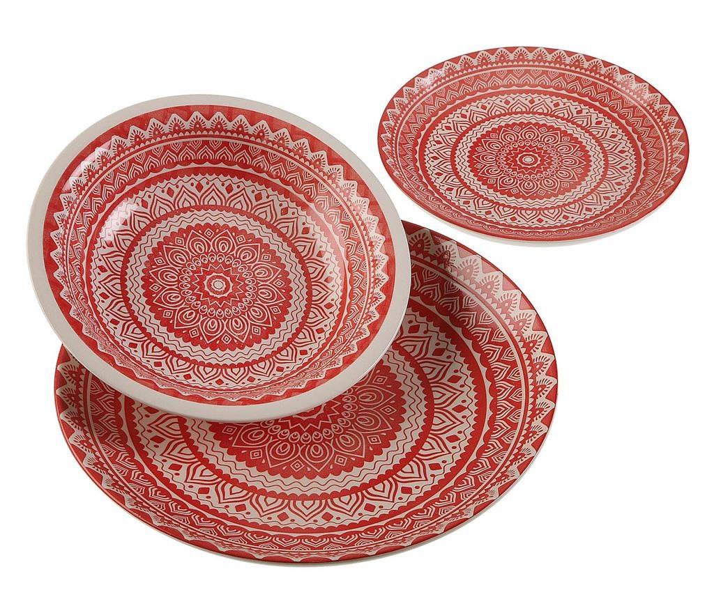 18-dijelni servis za jelo Antoinette Red
