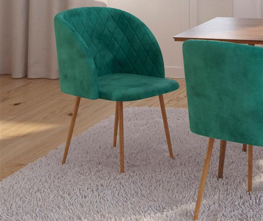 Stolica Makro Green Velvet