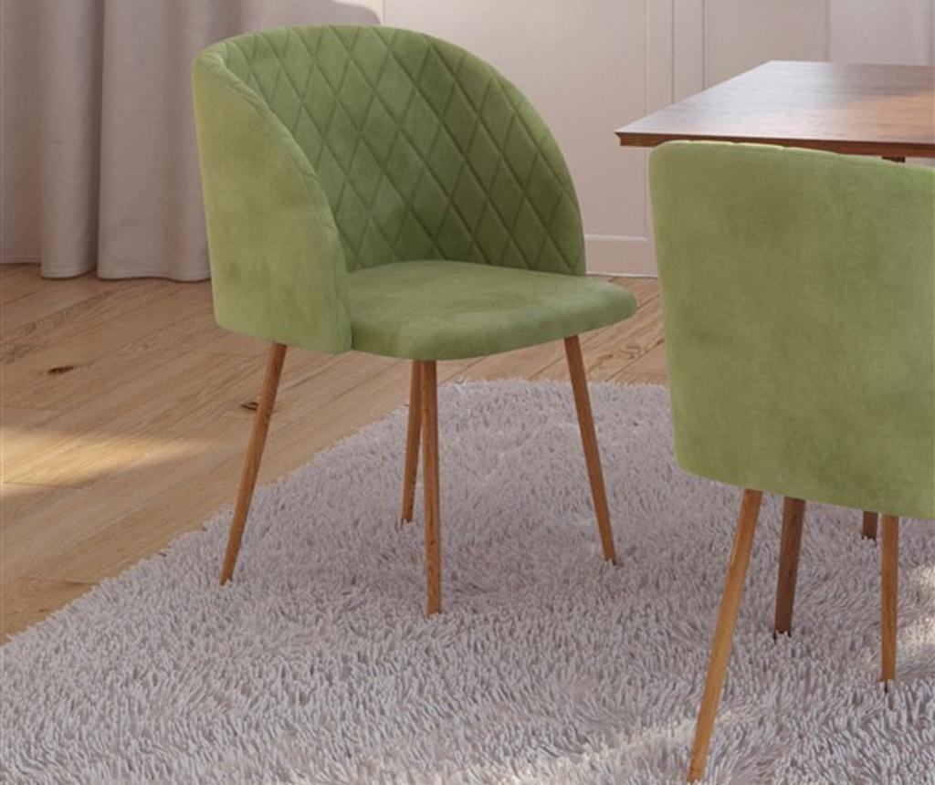 Stolica Makro Light Green Velvet