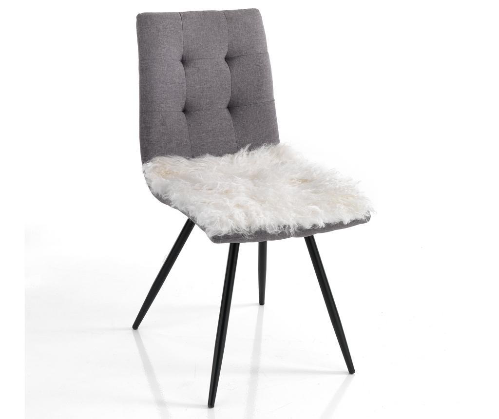 Подложка за седалка Fur Ivory 40x40 см