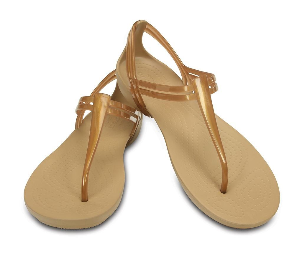 Ženski sandali Crocs Isabella T-strap Golden 37-38