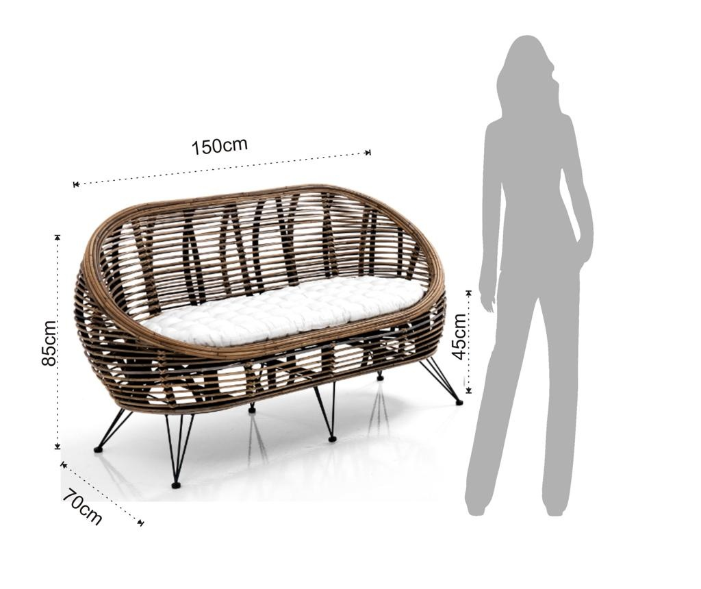 Комплект мебели за екстериор 4 части Huck