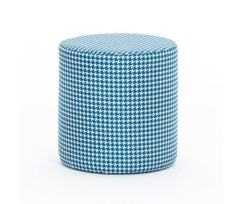 Taburet Slindir Pattern Blue