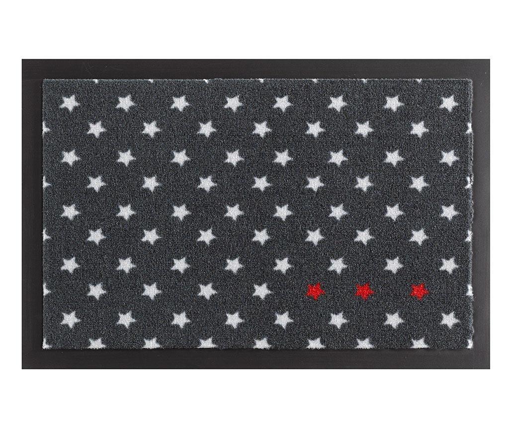 Covoras de intrare Printy Stars Anthracite Red White 40x60 cm