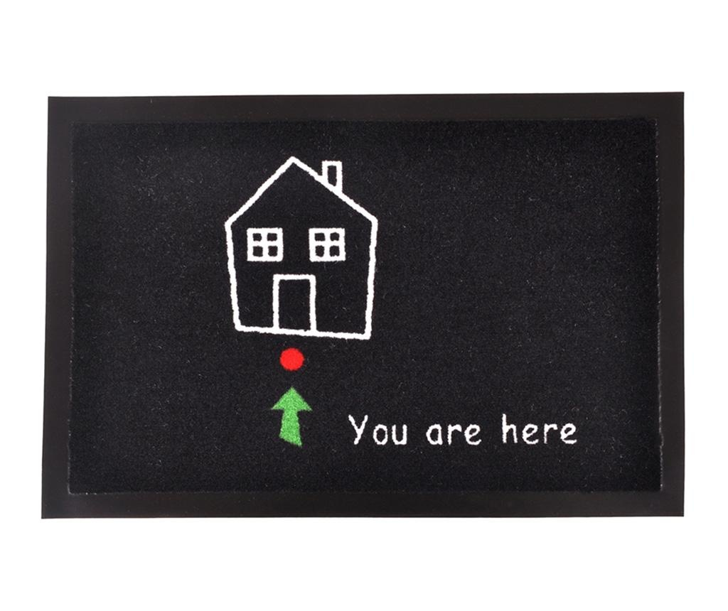 Printy You Black White Green Red Lábtörlő szőnyeg 40x60 cm