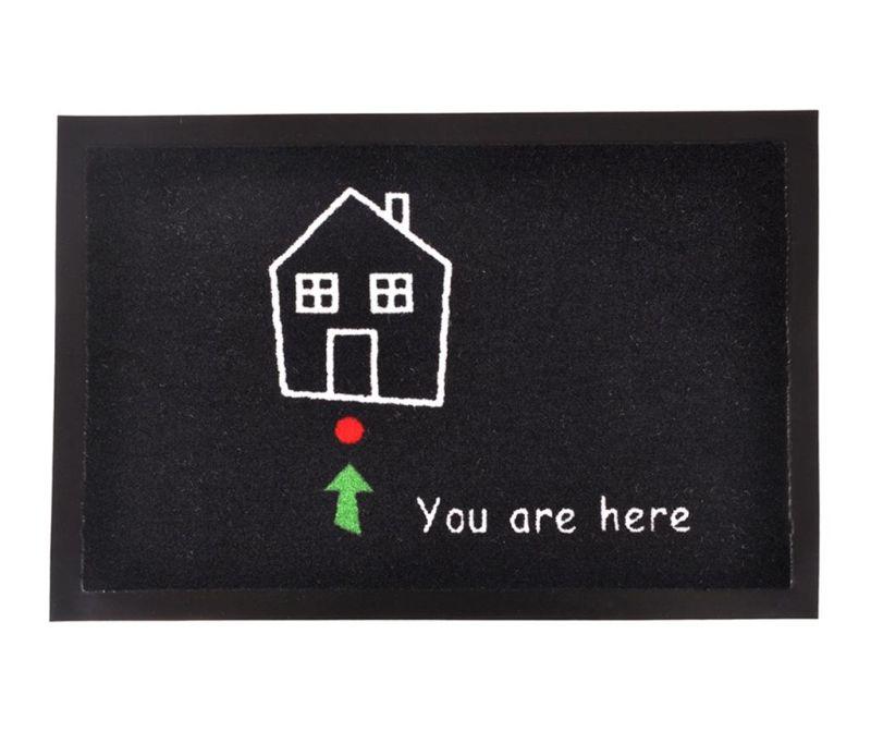 Predpražnik Printy You Black White Green Red 40x60 cm
