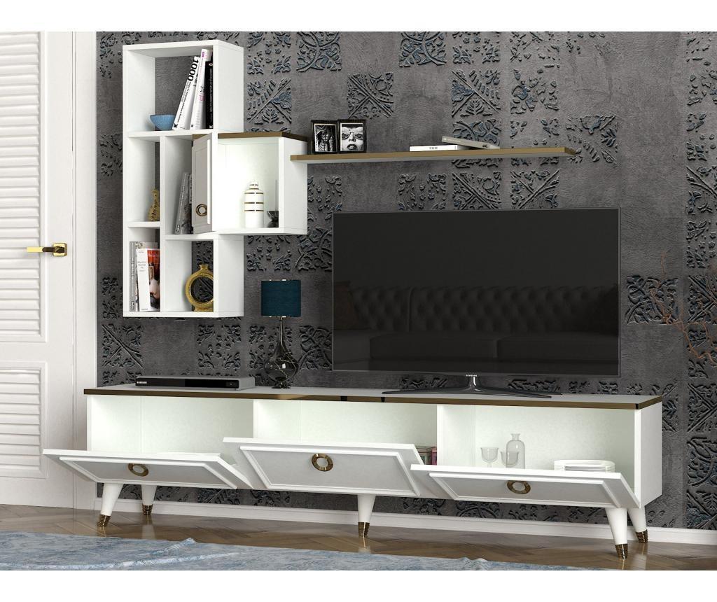 Комплект комода TV и висящ модул Kornelya