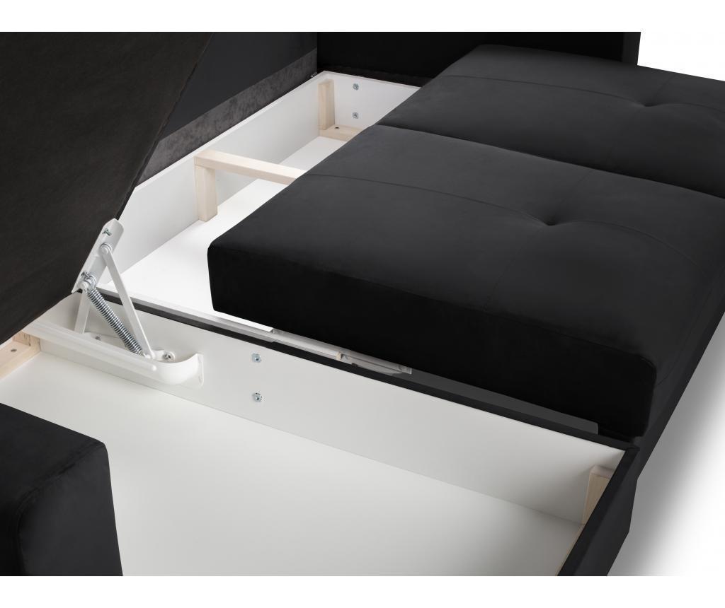 Andante Black Megfordítható és kihúzható sarokkanapé