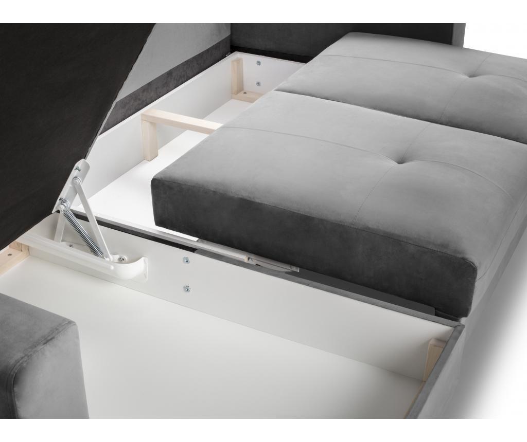Tempo Light Grey Megfordítható kihúzható sarokkanapé