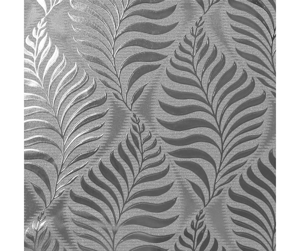 Stenska tapeta Foil Embossed Leaf Silver 53x1005 cm