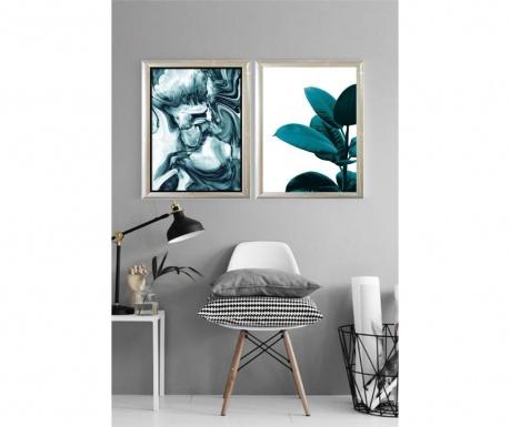 Σετ 2 πίνακες Silandir Greenery 23x33 cm